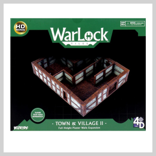 WarLock Tiles: Town & Village II - Full Height Plaster Walls Expansion